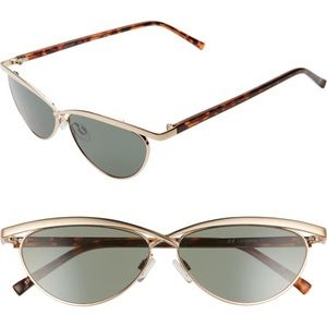 Le Specs Teleport Ya 57mm Cat Eye Sunglasses